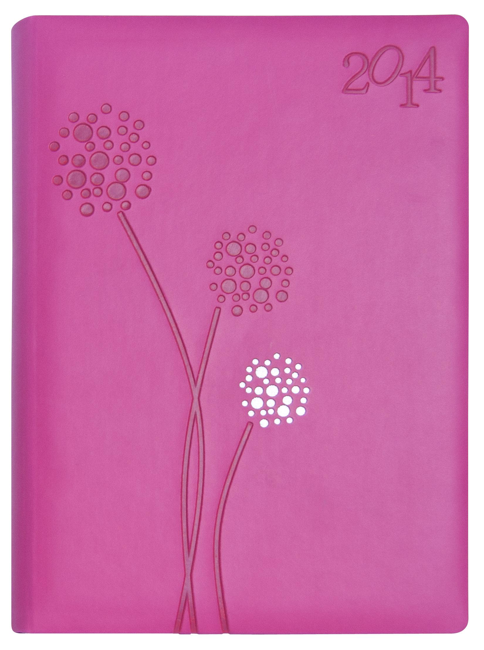 Agenda 2014 Flores Fucsia